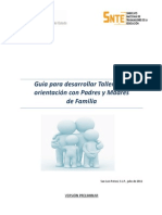 GUIA de TALLERES Padres y Madres de Familia