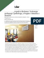 Kadrovski Propuh u Kolama - Nedostaje Pedagoga i Psihologa