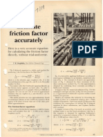Estimate Friction Factor