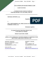 Newdow-v-Roberts-EmergMotion-2009-12-07