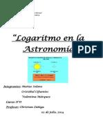 Logaritmo en La Astronomía