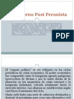 El Gobierno Post Peronista