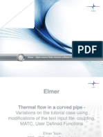 Thermal Flow in a Curved Pipe