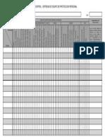 Ficha de Control de Entrega de Equipo de Protecion Personal