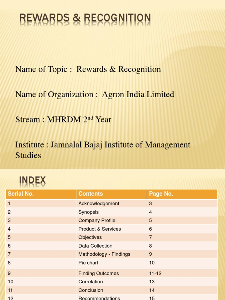 Thesis contents list
