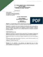 LEY DEL PROFESORADO Y SU REGLAMENTO.pdf