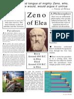 Class poster on Zeno of Elea