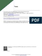 Barnett and Finnemore - The Politics, Power, And Pathologies of IOs