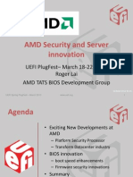 UEFI PlugFest AMD Security and Server Innovation AMD March 2013
