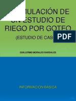 Formulación de Estudio de Riego Por Goteo