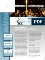 Mizrachi Newsletter Summer 5774
