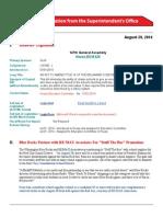 Merv's August 29, 2014 memo Red Clay