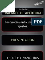 PRESENTACION BALANCE DE APERTURA