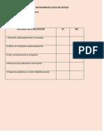 instrumento lista de cotejo evaluar glosario
