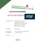 Rocas Metamórficas Informe