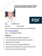 Application for NDMA Membership and Chairman, KVIC.
