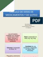 Cálculo Dosis de Medicamentos