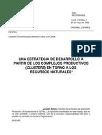 7.Ramos, 1998 Una Estrategia de Desarrollo a Partir de Los Complejos Productivos Clusters en Torno a Los Recursos Naturales
