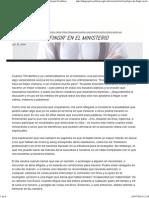 El Peligro de 'Fingir' en El Ministerio _ TGC _ the Gospel Coalition