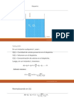 Ecuaciones Diferenciales - Aplicaciones Mezcla