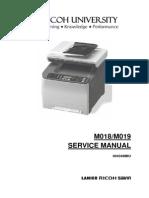 [M018, M019] SP C231SF, Aficio SP C232SF Parts & Service Manual