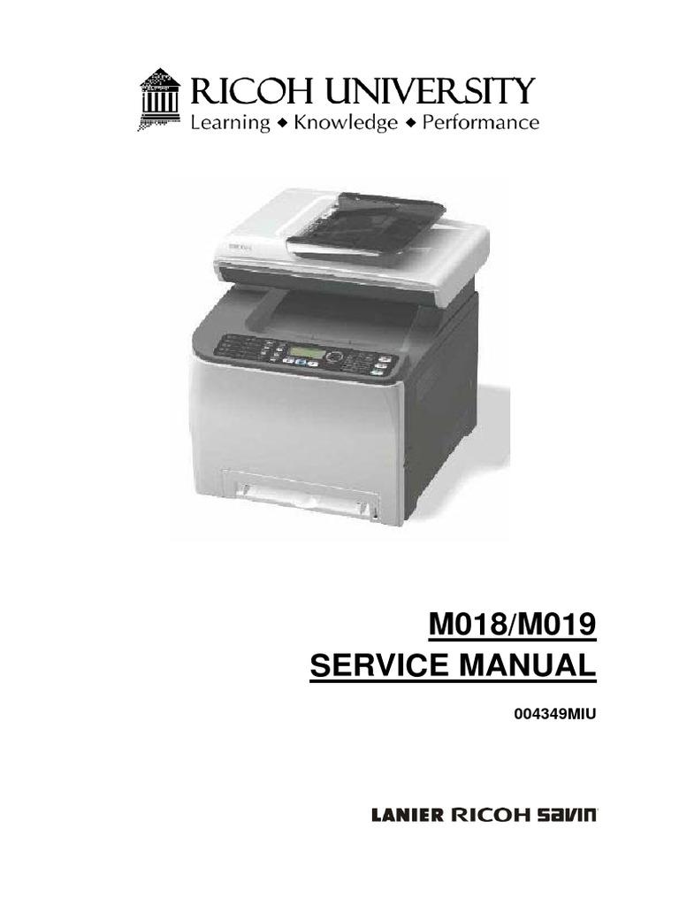 m018 m019 sp c231sf aficio sp c232sf parts service manual rh scribd com Copier Ricoh 2018 Ricoh USA
