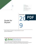 Quote for Skylark v2