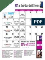 Goodwill's September Retail Calendar