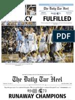 April 7, 2009 - Daily Tarheel NCAA Championship Newspaper