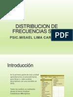 Capitulo 6. Distribucion de Frecuencias Spss