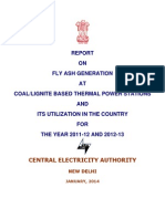 CEA Report on Fly Ash Utilization, Jan.2014