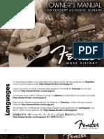 Fender Acoustics Manual