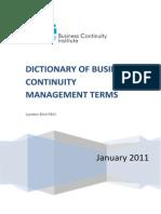 Bcm Glossary