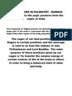 Remedies in Palmistry Mudras
