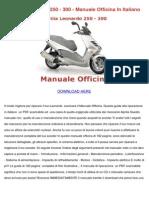 Aprilia Leonardo 250 300 Manuale Officina in Italiano