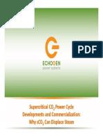 Supercritical CO2 Power Cycle Development & Commercialization