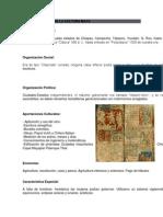Características de La Cultura Maya
