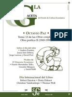La Gaceta - Abril 2004 - Octavio Paz
