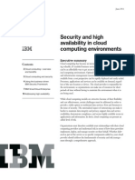 Security and High Availability in Cloud Computing Environments