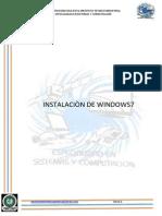 Instalacion de Windows7