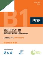 Modelltest Goethe Zertifikat A2