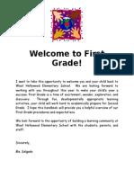 welcometofirstgradehandbook