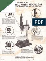 Dremel Drill Press Model 210 Instructions