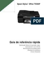 TX300F Guia de Referencia Rapida