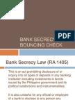 Bouncing Check & Bank Secrecy Law