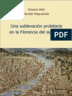 Una Sublevacion Proletaria en La Florencia Del Siglo Xiv