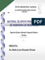 Apuntes de Ingenieria de Reactores I Mlhpichardo