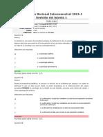 Evaluación Nacional Intersemestral 2013 INT a LA PSICOLOGIA