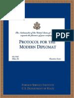 Protocolul diplomatului modern, ghid practic