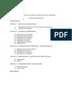 Diagnóstico Del Sistema Logístico en Una Empresa